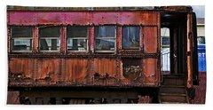 Old Train Car Bath Towel
