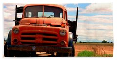 Old Truck Bath Towel by Matt Harang