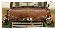 Old Truck Bath Towel by Steven Reed