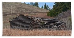 Old Turn Of The Century Log Cabin Homestead Art Prints Hand Towel by Valerie Garner
