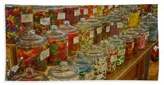 Old Village Mercantile Caledonia Mo Candy Jars Dsc04014 Hand Towel by Greg Kluempers