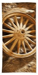 Vintage Hand Towel featuring the photograph Wheels West by Aaron Berg