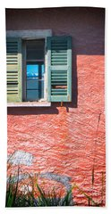 Bath Towel featuring the photograph Old Window With Reflection by Silvia Ganora