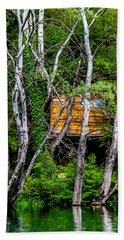 Bath Towel featuring the photograph Old Wooden Cabin by Sotiris Filippou