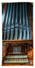 Bath Towel featuring the photograph Olde Church Organ by Adrian Evans