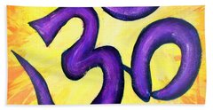 Om Symbol Art Painting Bath Towel