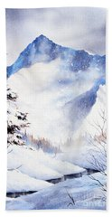Bath Towel featuring the painting O'malley Peak by Teresa Ascone