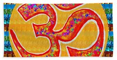 Ommantra Om Mantra Chant Yoga Meditation Spiritual Religion Sound  Navinjoshi  Rights Managed Images Bath Towel