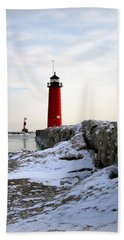 On A Cold Winter's Morning Hand Towel by Kay Novy