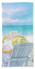 On Beach Time Hand Towel by Jane Schnetlage
