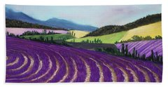 On Lavender Trail Hand Towel