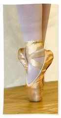 Ballet Toes On Point Bath Towel