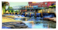 On The Reedy River In Greenville Bath Towel