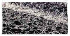On The Rocks  French Beach Square Bath Towel