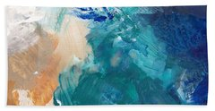 On A Summer Breeze- Contemporary Abstract Art Bath Towel