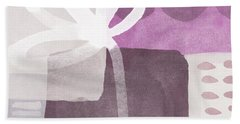 One Flower- Contemporary Painting Hand Towel