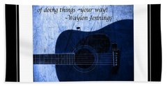 One More Way - Waylon Jennings Hand Towel