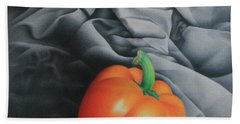 Hand Towel featuring the painting Only Orange by Pamela Clements