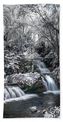 Onomea Falls In Infrared 2 Bath Towel