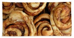 Ooey Gooey Cinnamon Buns Hand Towel by Brian Chase
