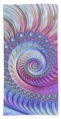 Hand Towel featuring the digital art Opal Nautilus by Susan Maxwell Schmidt