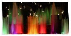 Open Air Theatre Rainbow Fountain Bath Towel