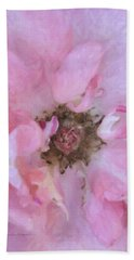 Open Pink Rose Bath Towel by Kenny Francis