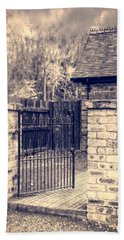 Open Wrought Iron Gate Bath Towel
