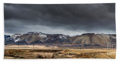 Oquirrh Mountains Winter Storm Panorama 2 - Utah Hand Towel