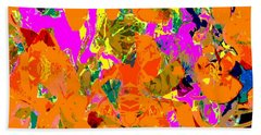Hand Towel featuring the digital art Orange Abstract by Barbara Moignard