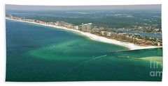Looking N W Across Perdio Pass To Gulf Shores Bath Towel