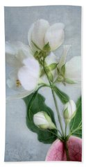 Orange Blossom Time Hand Towel by Louise Kumpf