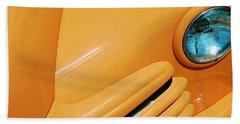 Orange Car Hand Towel by Daniel Thompson