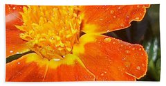 Orange Flower Hand Towel
