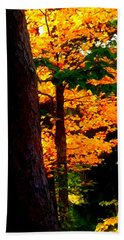 Hand Towel featuring the photograph Orange Foliage by Denyse Duhaime