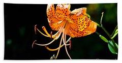 Orange Lily - Lilium Kelleyanum Hand Towel