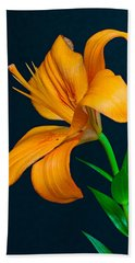 Orange Lily Profile Hand Towel