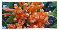 Orange Petals Hand Towel