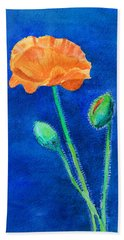 Orange Poppy Hand Towel