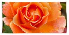 Orange Rose Lillian Hand Towel by Dee Dee  Whittle