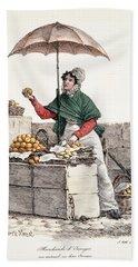 Orange Seller, Print Made By Delpech Bath Towel