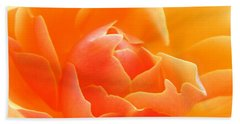 Hand Towel featuring the photograph Orange Sherbet by Deb Halloran