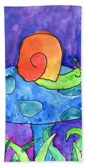 Orange Snail Bath Towel