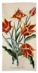 Orange Tulip Hand Towel