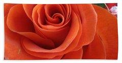 Orange Twist Rose 2 Hand Towel