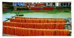 Orange Yarn Hand Towel