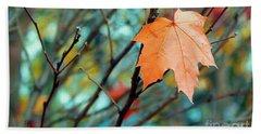 Orange You Gonna Fall Hand Towel by Nina Silver