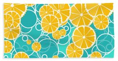 Oranges And Bubbles Hand Towel