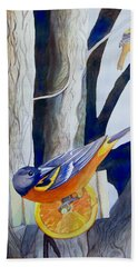 Oranges And Orioles Hand Towel