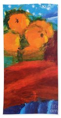 Bath Towel featuring the painting Oranges by Donald J Ryker III